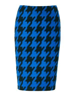Dogtooth pencil skirt
