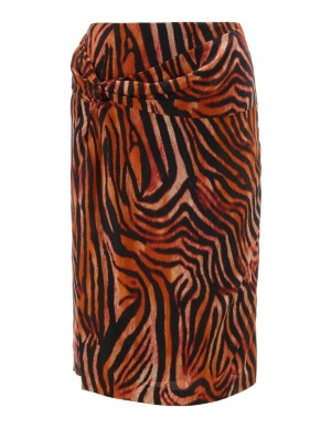Zebra print pencil skirt