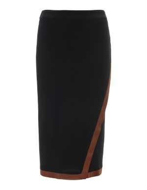 Wrap-around-look skirt