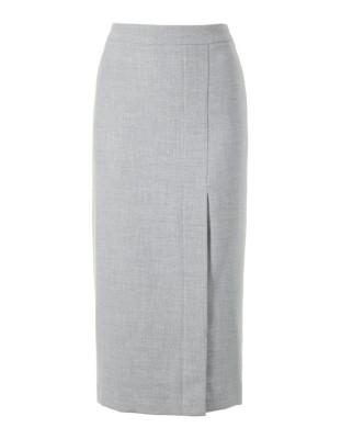 Slim tweed skirt