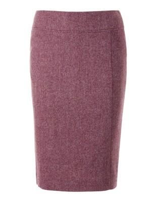 Herringbone pencil skirt