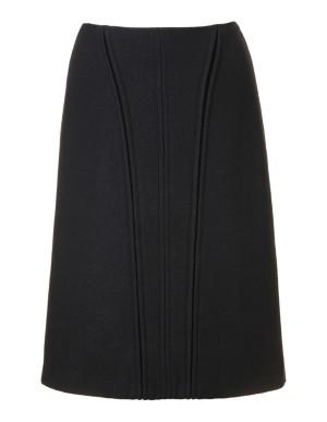 Milled wool skirt