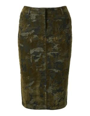 Flock print skirt