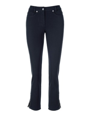 Cropped 5-pocket style 'M' jeans