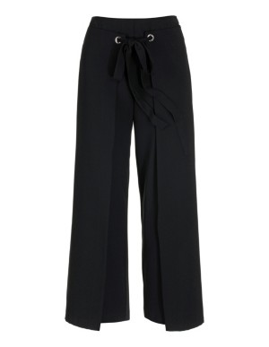 Cropped, high-waisted culottes