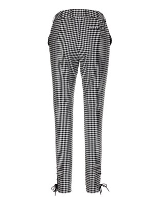 Slim cut check trousers