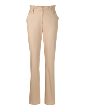 Ruffle-waisted trousers