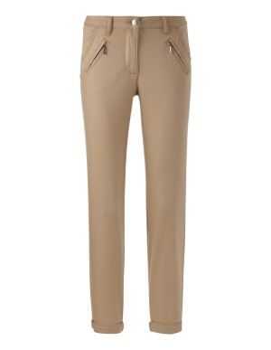 Cropped cotton chino trousers