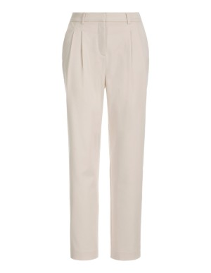 Fashionable high-waisted pleated trousers