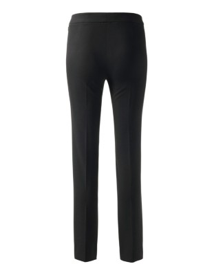 Slim-fit cropped trousers with side zip