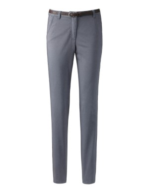 Chino-style trousers with herringbone seam ribbon