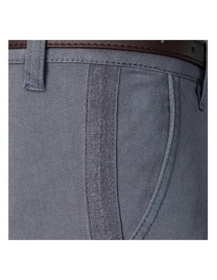 Chino-style trousers with herringbone seam ribbon