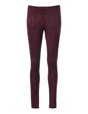 Soft and stretchy techno velour trousers