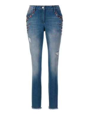 Worn-look jeans