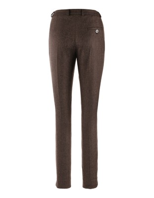 Italian tweed trousers with cashmere