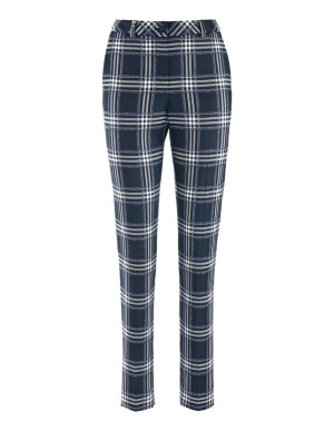 Stretch check trousers