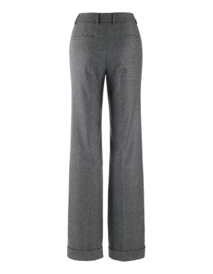 Wide-leg tweed trousers