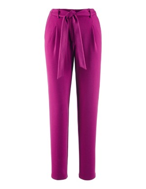 Cropped, loose-fit trousers