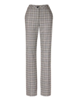 Checked wide-leg trousers