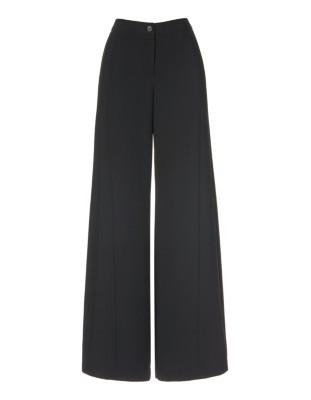 Flowing, wide-leg crepe trousers
