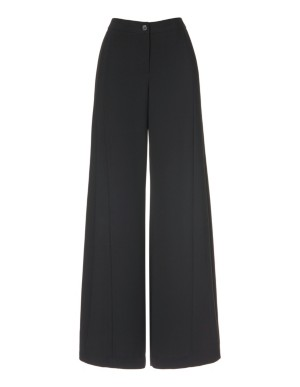 Flowing, wide-leg crepe trousers
