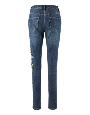 Decorative 5-pocket jeans