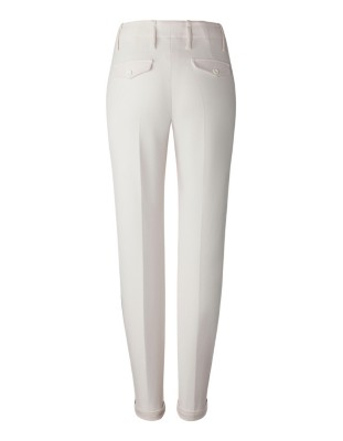 Delicately draping crepe trousers