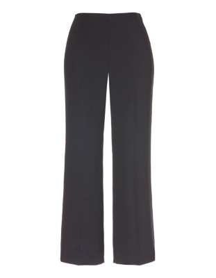 Cropped, high-waisted crepe trousers