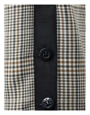 Wide-leg Prince of Wales check trousers