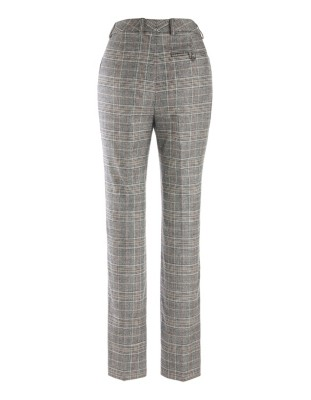 New wool Prince of Wales check trousers