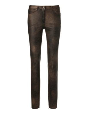 Coated slim-fit, stretch cotton jeans