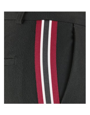 Easy-care ceramica trousers with side stripe