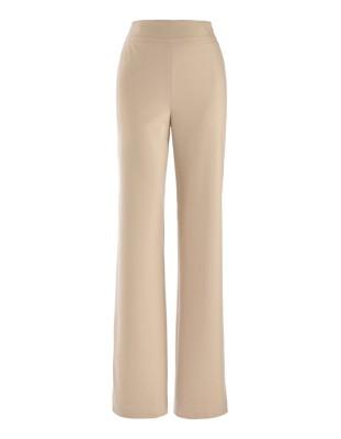 Wide-leg ceramica trousers