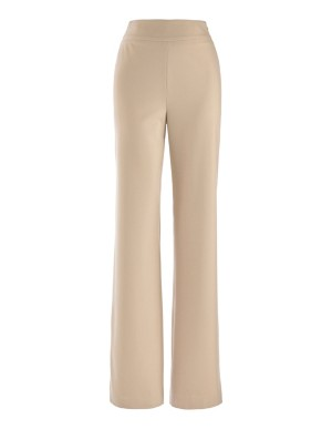 Wide-leg ceramica trousers