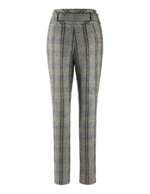 Slim-hip herringbone trousers