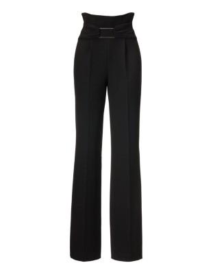 Easy-care high-waist trousers