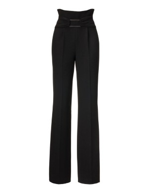 Easy-care high-waist trousers