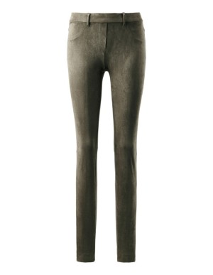Slim-line micro velour trousers