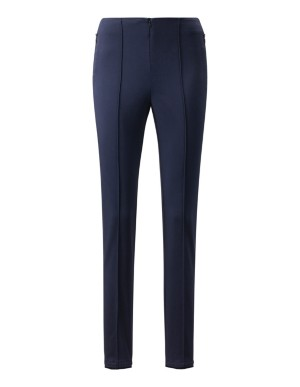 Slim-fit trousers with back hem zips