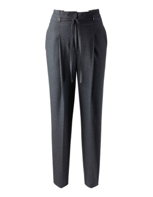 Cropped high-waisted tapered trousers