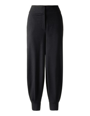High-waisted baggy trousers