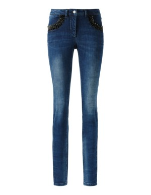 Comfortable power-stretch jeans with pocket trim detail