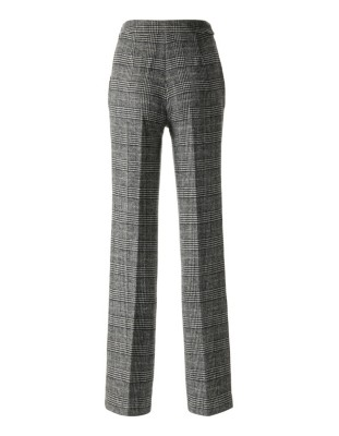 Classic wide leg check trousers