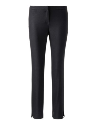 Cropped classic straight leg trousers
