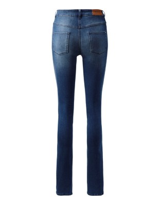 Perfect-fit jeans with satin side stripe