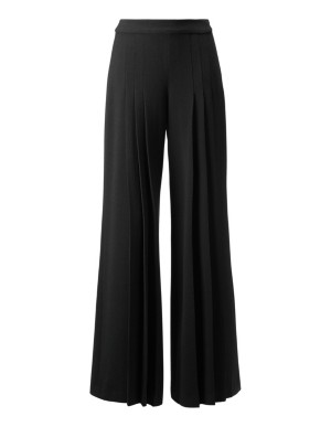 Box pleat trousers