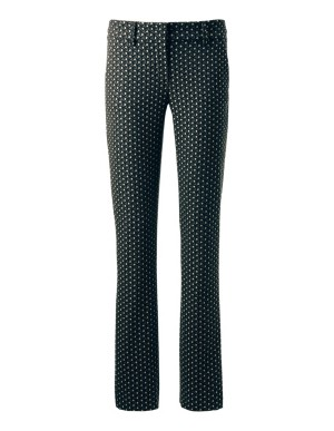 Elasticated jacquard trousers