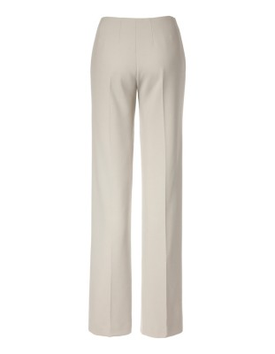 Textured, wide-leg crepe trousers with piping