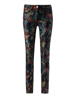 Floral super-slim stretch jeans