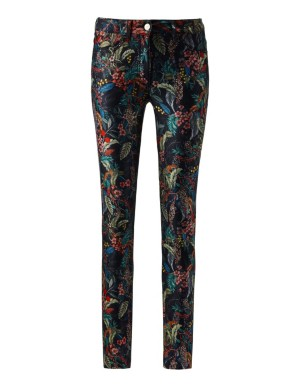 Floral super-slim stretch jeans